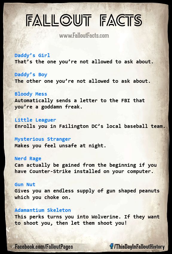 Fallout Perks You're not Suppose to Talk About