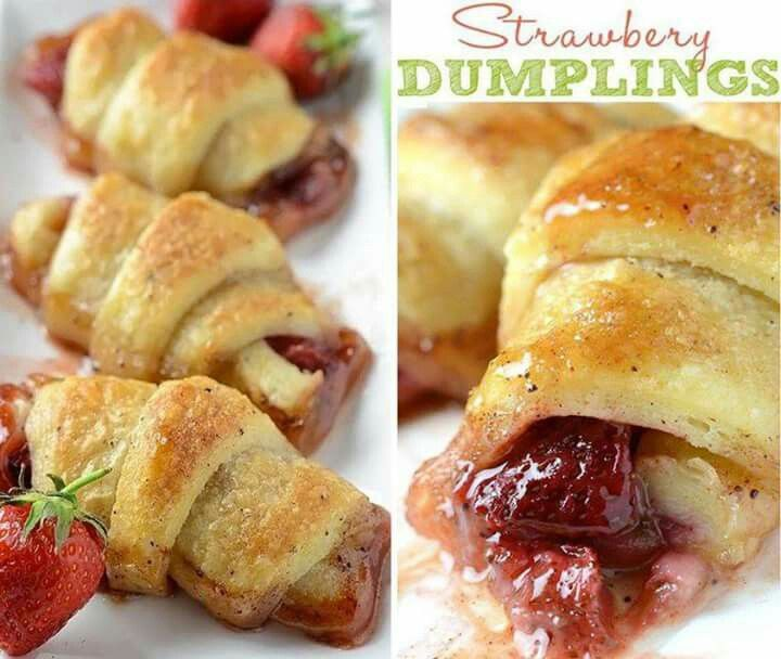 Strawberry dumplings | Recipes | Pinterest | Strawberries and ...