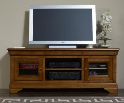 Les 25 meilleures id es de la cat gorie meuble en merisier for Solde meuble tv