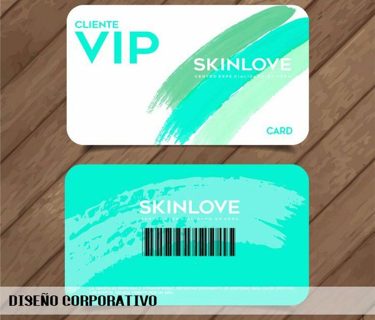 Diseño de las tarjetas VIP del centro especializado en cera SKINLOVE