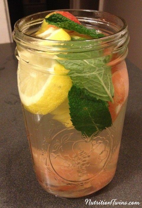 """Apple Cider Vinegar Mint """"Detox"""" Drink                                                                                                                                                      More"""