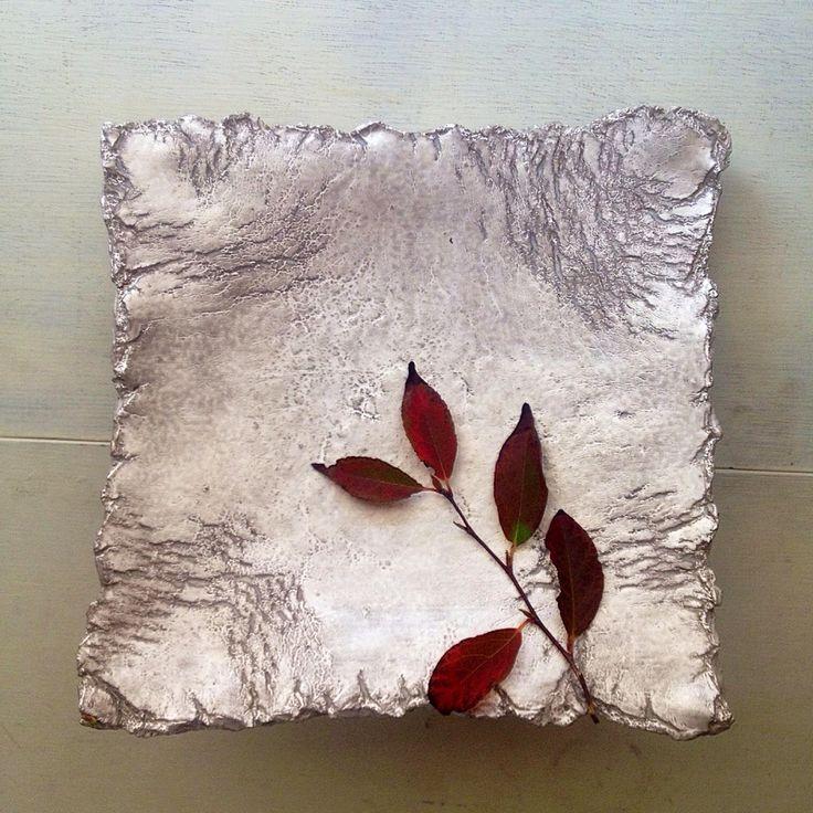 銀樹   角皿