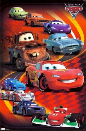 Cars 2 Movie Group Poster Print - 22x34 Movie Poster Print, 22x34 by Generic, http://www.amazon.com/dp/B004S6SPUE/ref=cm_sw_r_pi_dp_XDFEpb1GRJS2K
