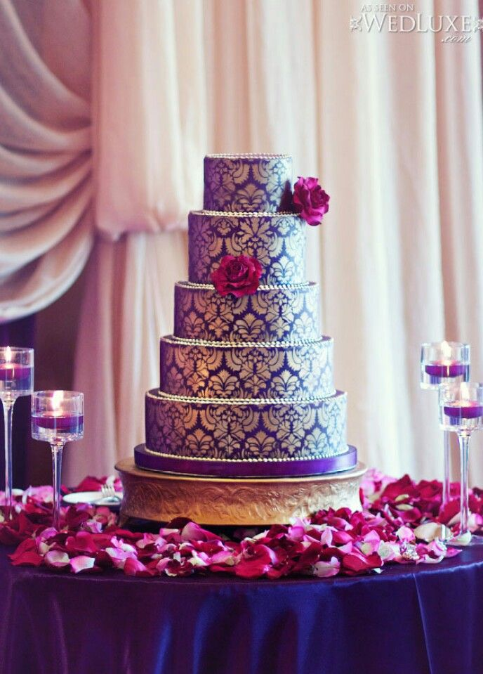 royal purple and gold wedding cake royal purple and gold cake 19409