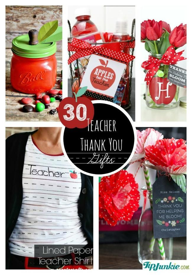 Teacher  Thank You  Gifts..Make teacher happy with one of these incredible homemade teacher gift ideas.  They're perfect for both male and female teachers.  These easy homemade gifts tutorials include teacher poems, teacher thank you cards, as well as edible treats, printable cards, personalized t-shirt, gift cards and printable art!