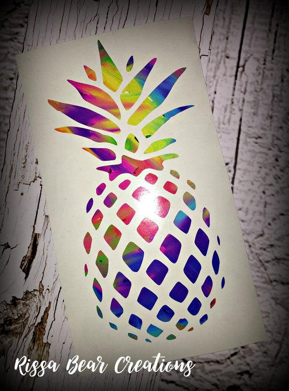 Limited Quantity Pineapple Vinyl Decal Made With A Fun And