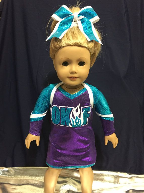 April 3rd 2017 18 Doll Custom Cheer Uniform by ChemicalCityCouture