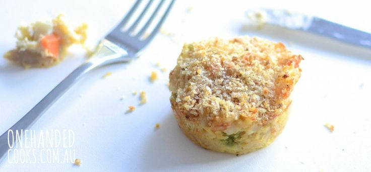 Creamy Tuna Muffins - One Handed Cooks