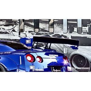 Liberty Walk Nissan GT-R rear GT wing ver.1  #libertywalk #lbwork #nissan #NissanGTR #GTR #GTwing #kamiwazajapan #1048style