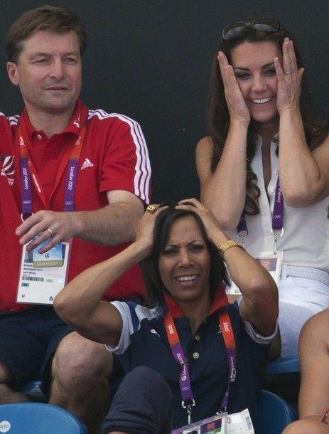 Duchess Kate: Kate in Sleeveless White Top and Denim Skirt for Team GB Hockey