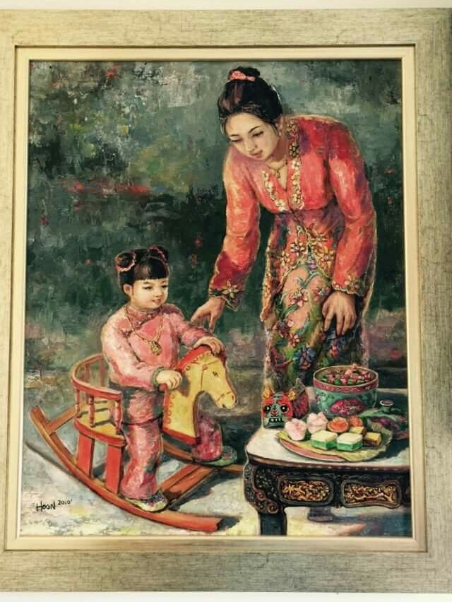 A Peranakan painting  by  Tan Gaik Hoon