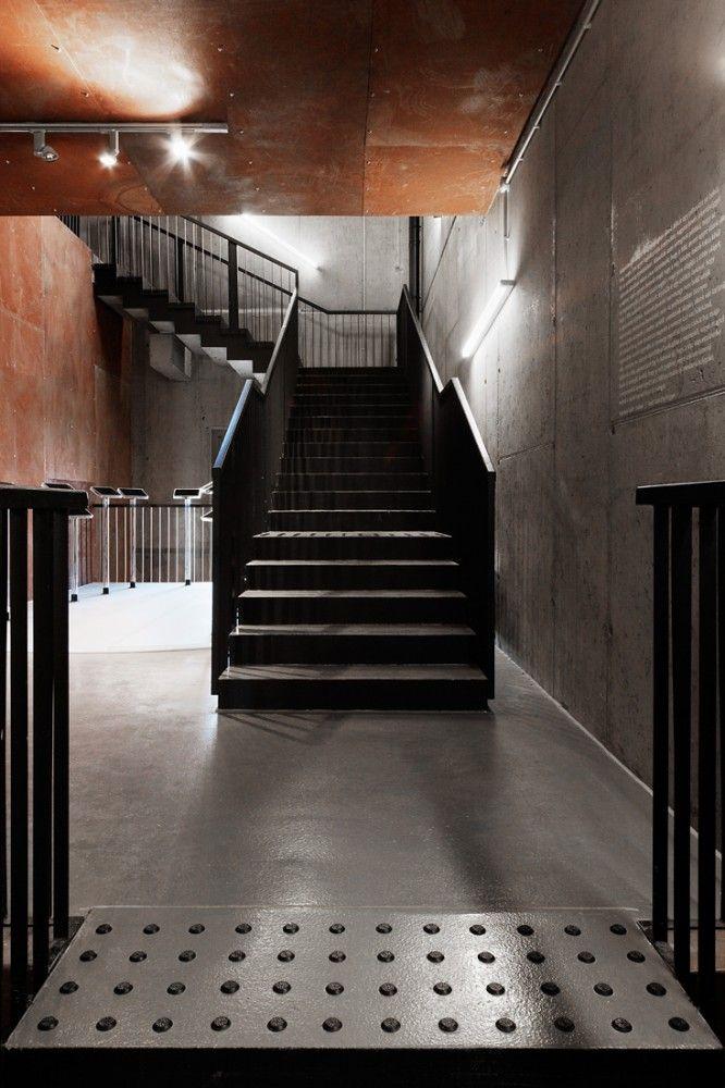 Kemenes Volcanopark Visitor Center / Foldes Architects © Tamas Bujnovszky  #stairs #corten #steel #concrete #interior