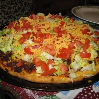 Beef Taco Pizza from Panago
