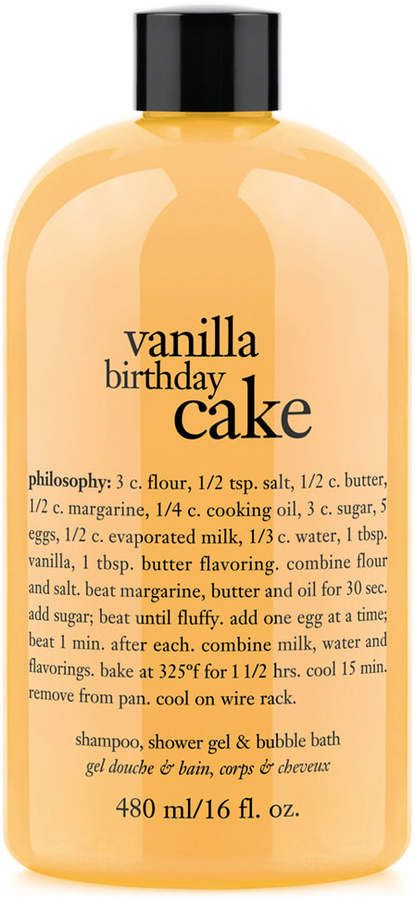 Philosophy Vanilla Birthday Cake Ultra Rich 3 In 1 Shampoo Body Wash And Bubble Bath 16 Oz Bodywash This Pin Contains Affiliate Links