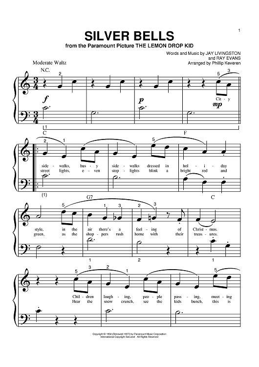 Silver Bells - Sheet Music  -  onlinesheetmusic.com