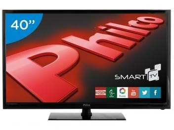 "Smart TV LED 40"" Philco Full HD PH40R86DSGW - Conversor Digital Wi-Fi 2 HDMI 1 USB"