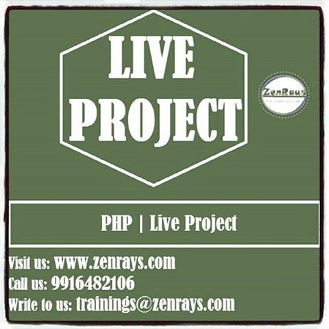 Live Project Available for #PHP. Work along with the Industry Experts. ⠀ Duration/Fee: 1 month |Rs. 10,500/-. Apply Now! ⠀ #Bangalore #Gurgaon