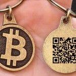 custom made bitcoin keychain