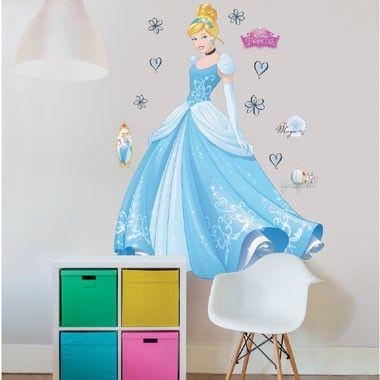 Disney Princess Assepoester muurstickers - 120 cm  Breng je kamer tot leven met deze geweldige Assepoester muursticker van Walltastic.  EUR 39.99  Meer informatie