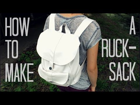 How to make a rucksack   It's a crafty world