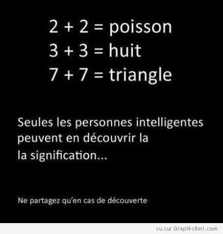 Enigme pour personnes intelligentes : Poisson, Huit et Triangle
