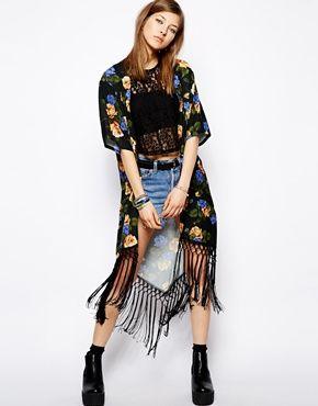 Minkpink Always & Never Fringe Kimono