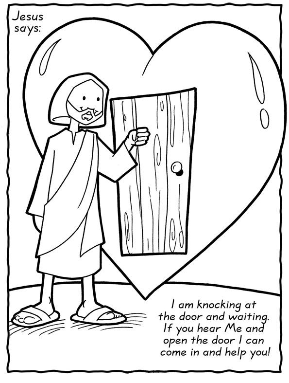 Jesus loves our family coloring sheet | Christian ...