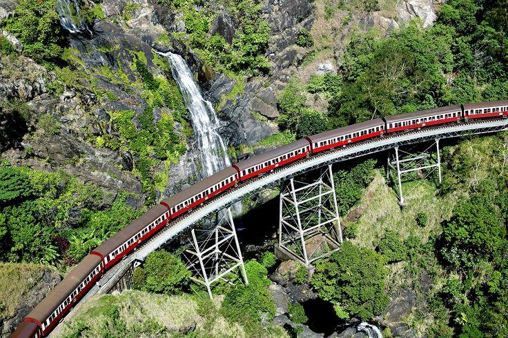 Ride the historic Kuranda Scenic Railway. #australia