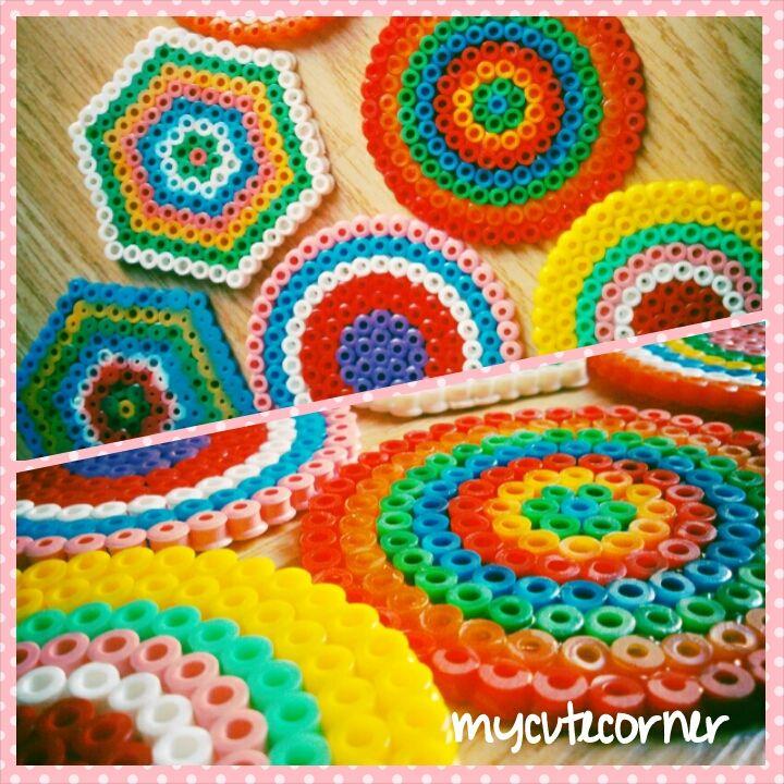 Posavasos con hama beads