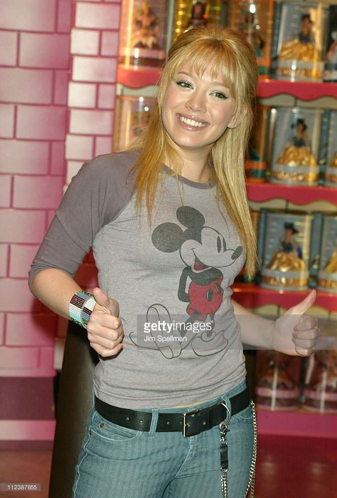 Hilary Duff during Hilary Duff at the Disney Store at The Disney Store Fifth Avenue in New York City, New York, United States.