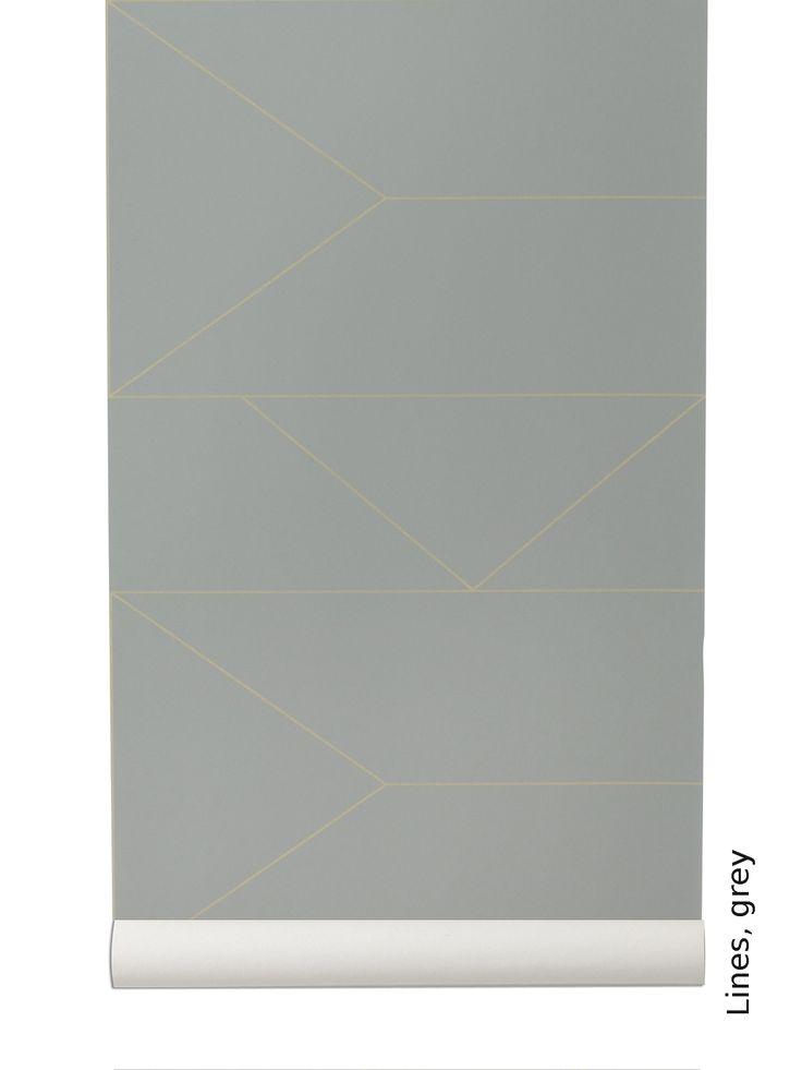 Tapete: Lines, grey - Die TapetenAgentur