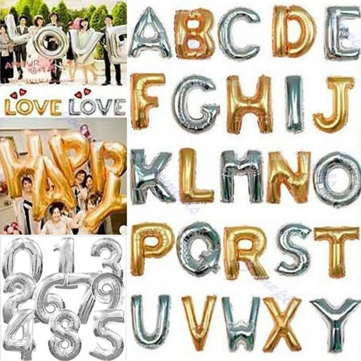 Mylar Foil Balloons Letters A-Z Alphabet or 0-9 Number Balloon Wedding Party Decoration decorative foil balloon