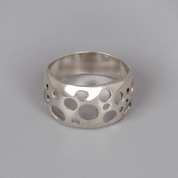 Could do something with this idea - Sterling Silver Ring - Handmade Sterling Silver Jewelry - Bubbles. $70.00, via Etsy.