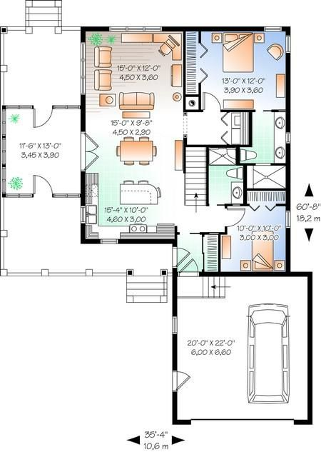 17 best ideas about square feet on pinterest feet to for 2 bedroom lake house plans