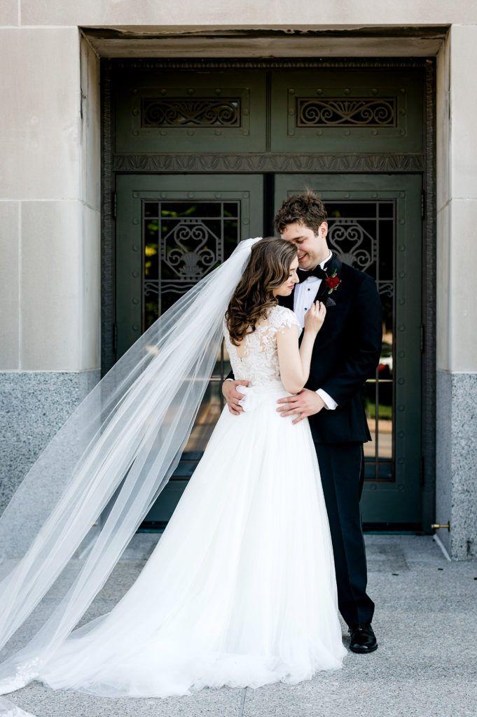 Saint Louis Wedding Photographer Stifel Theater Wedding Theatre Wedding St Louis Wedding Wedding First Look
