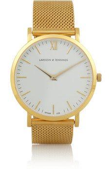 Larsson & Jennings CM gold-plated watch | NET-A-PORTER