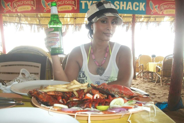 Lunch on the beach at Calangute, Goa