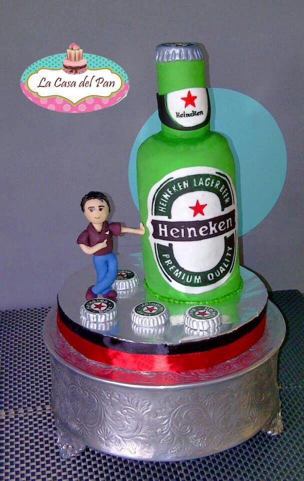 Heineken Cake Birthday Cakes Pinterest Heineken And