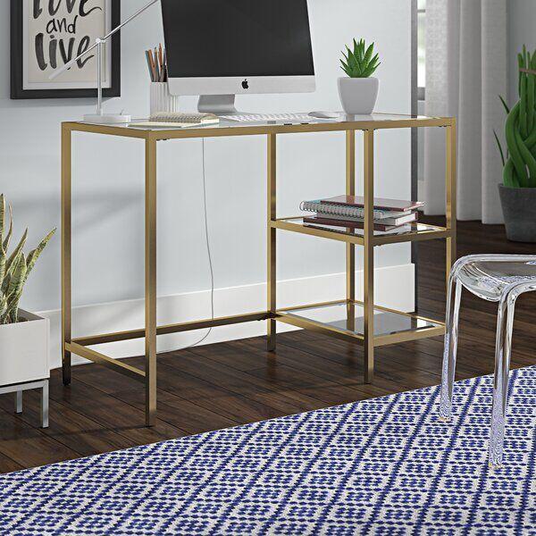 Lach Glass Desk Desk Glass Glassofficedeskworkspaces Lach In 2020 Glass Desk Glass Desk Office Desk