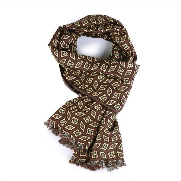 Serà Fine Silk - Castagna Wool & Silk Scarf ($225) ❤ liked on Polyvore featuring men's fashion, men's accessories, men's scarves, mens silk scarves and mens wool scarves