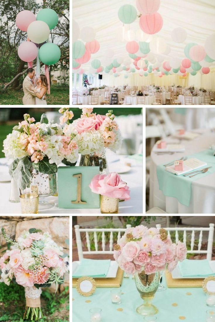 Menta és rózsaszín | Esküvői színek 2017 - 15 trendi színkombinációt mutatunk a tökéletes esküvői dekorációhoz. Inspirálódj velünk!