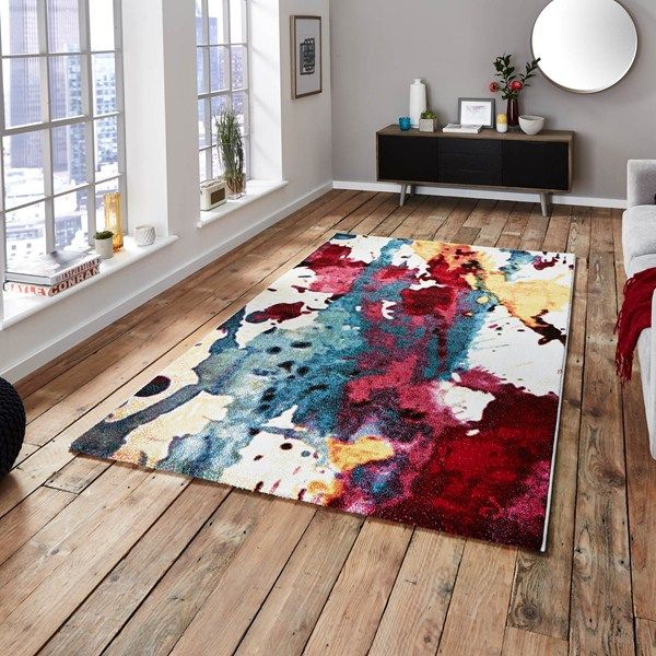 Enhance any modern room setting, with a colourful Sunrise Rug. #InteriorDesign #Interiors
