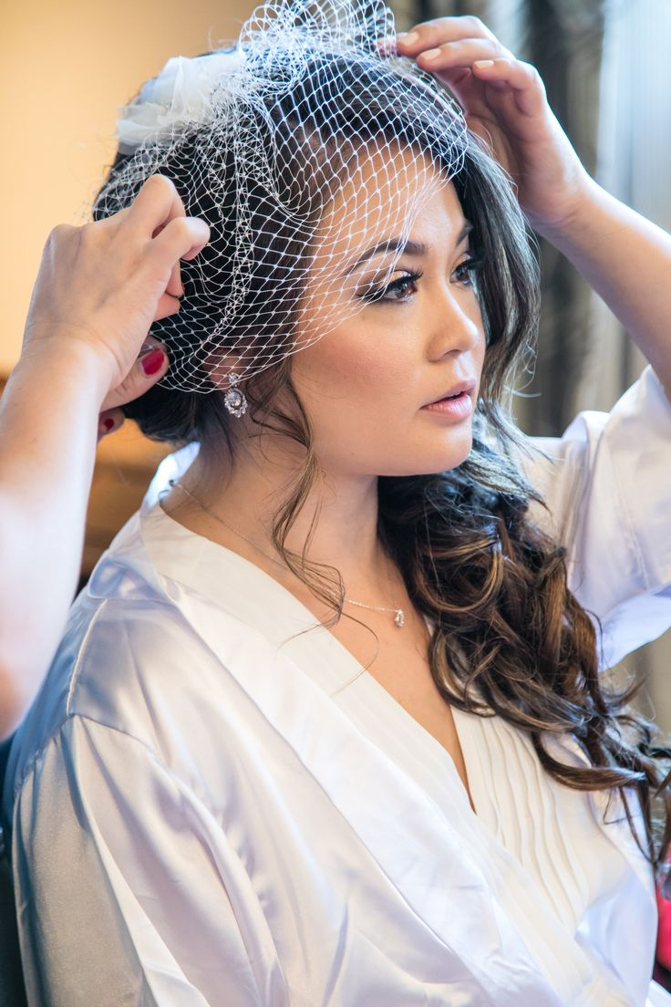 Adding some vintage touches for this modern bride. Event Coordination: Boheme Tipi Events, Hair & Make-Up: Chau Nguyen, A List Makeup, Photography: Elizabeth Burgi Photography
