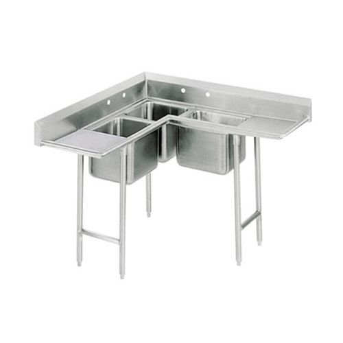 Advance Tabco 94 K5 11d Three Compartment Corner Sink With
