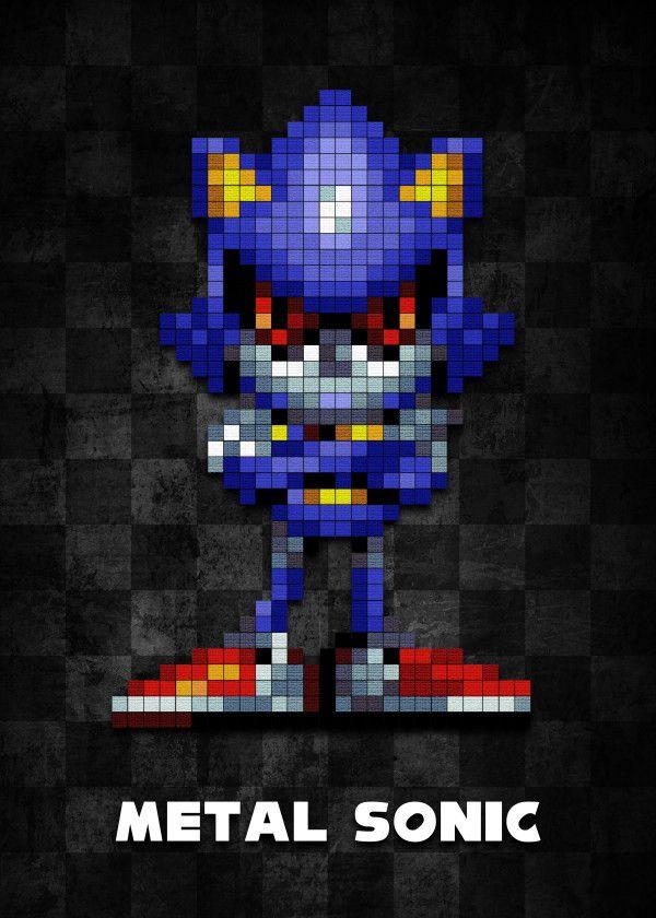 Metal Sonic v1 0 by BGW Beegeedoubleyou | metal posters