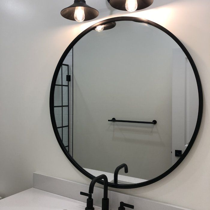 Hub Modern And Contemporary Accent Mirror In 2020 Round Mirror Bathroom Bathroom Decor Bathroom Wallpaper