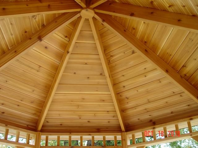 Gazebo Roof Ceiling Our Most Popular Gazebo And Hot Tub