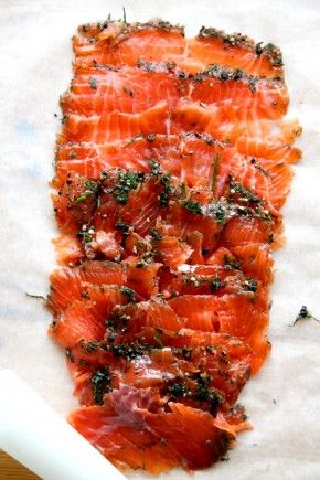 Gravlax... Some swedish salmon