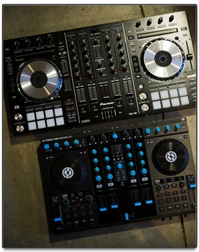 Pioneer DDJ-SX Controller for Serato DJ and Traktor S4 controller for Traktor