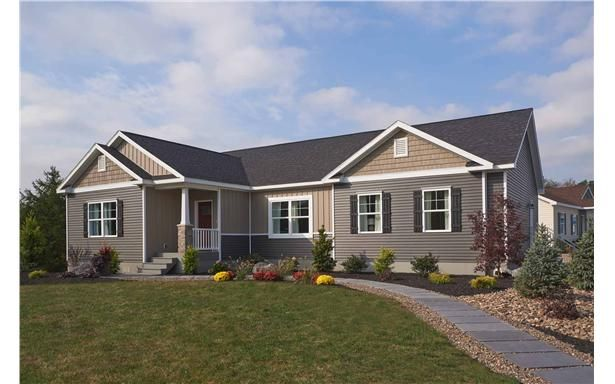 24 best images about curb appeal on pinterest brown roof for New construction ranch style homes in illinois